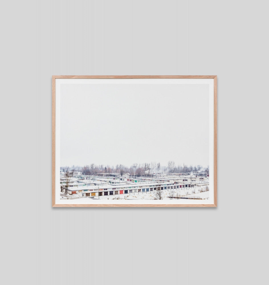 SNOWY ROOFTOPS · FRAMED PRINT