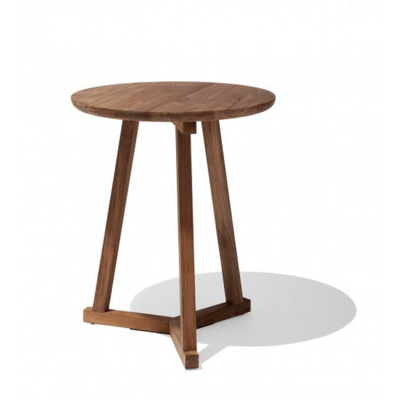 TEAK MALI TRIPOD SIDE TABLE - The Banyan Tree Furniture & Homewares