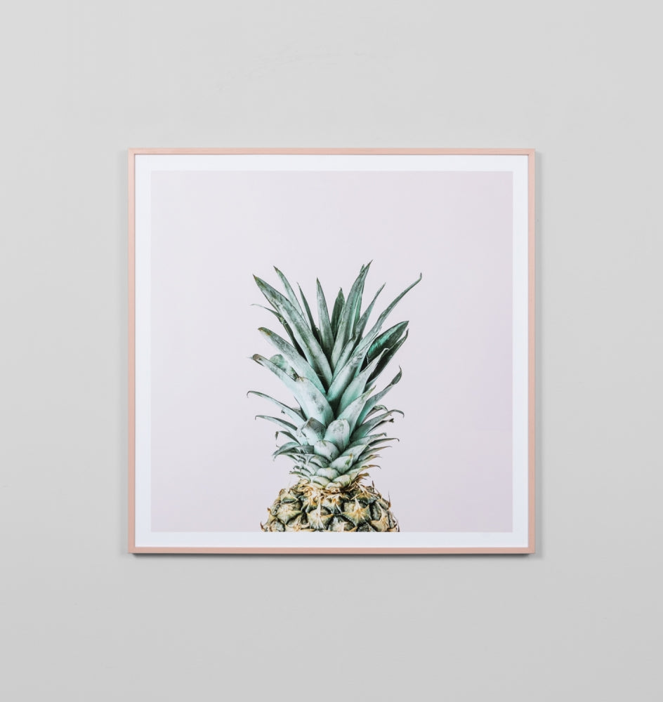 BLUSH PINEAPPLE FRAMED PRINT