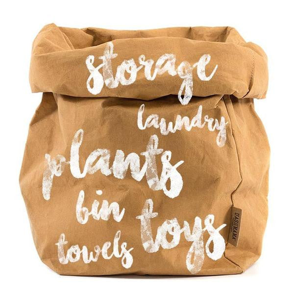 OVERSIZE CAMEL PAPER BAG - The Banyan Tree Furniture & Homewares