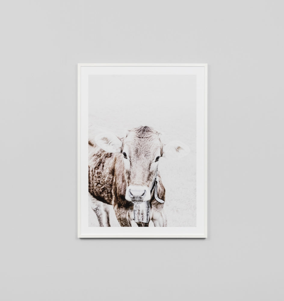 COW BELL FRAMED PRINT
