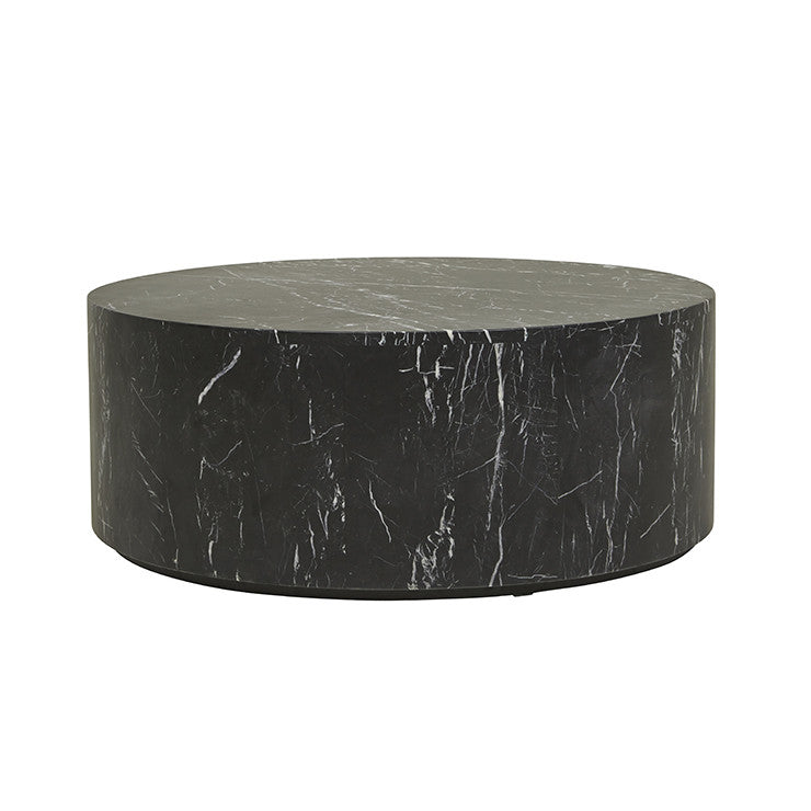 GLOBEWEST ELLE ROUND BLOCK COFFEE TABLE - The Banyan Tree Furniture & Homewares
