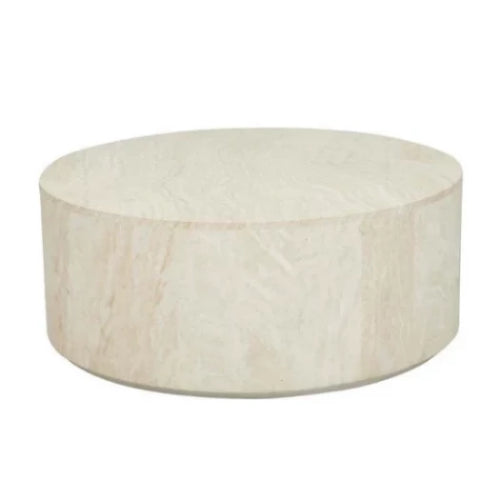 GLOBEWEST ELLE ROUND BLOCK COFFEE TABLE