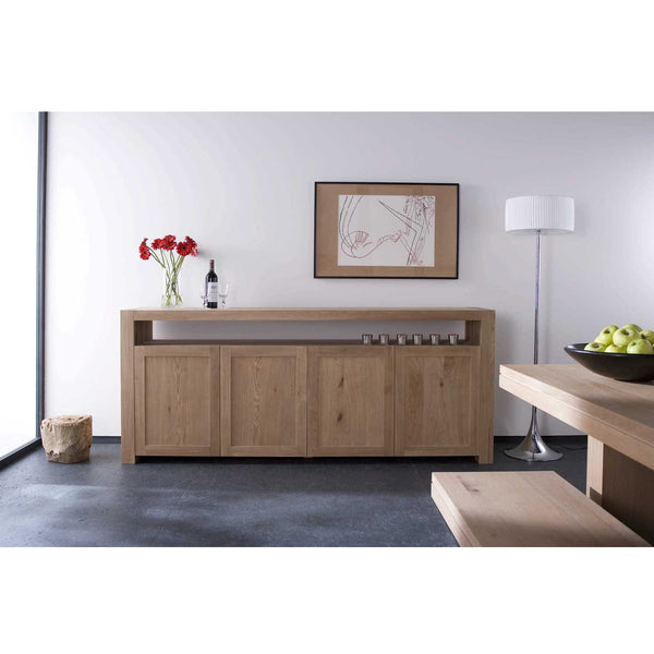 ETHNICRAFT TEAK DOUBLE SIDEBOARD 4 DOOR