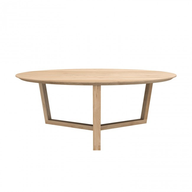 ETHNICRAFT OAK TRIPOD COFFEE TABLE - The Banyan Tree Furniture & Homewares