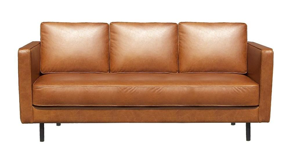 ETHNICRAFT N501 LEATHER SOFA 3 SEATER