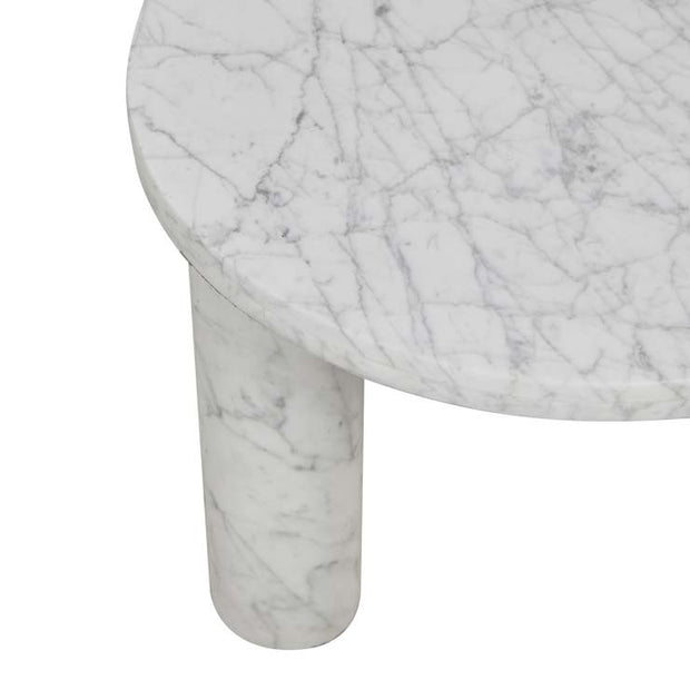 GLOBEWEST AMARA ROUND LEG SIDE TABLE