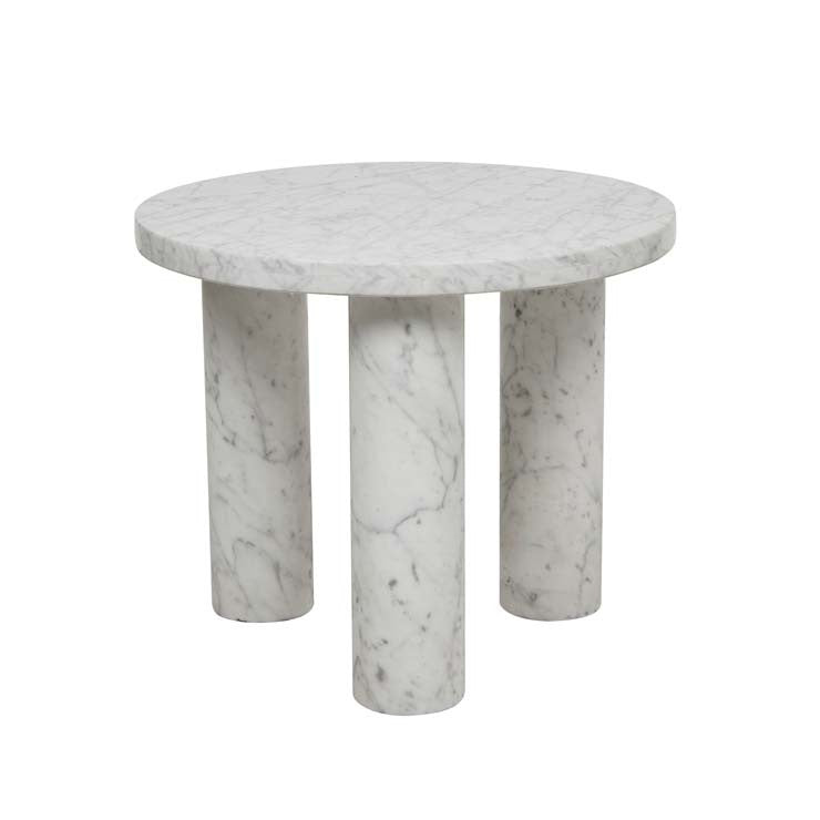 GLOBEWEST AMARA ROUND LEG SIDE TABLE - The Banyan Tree Furniture & Homewares