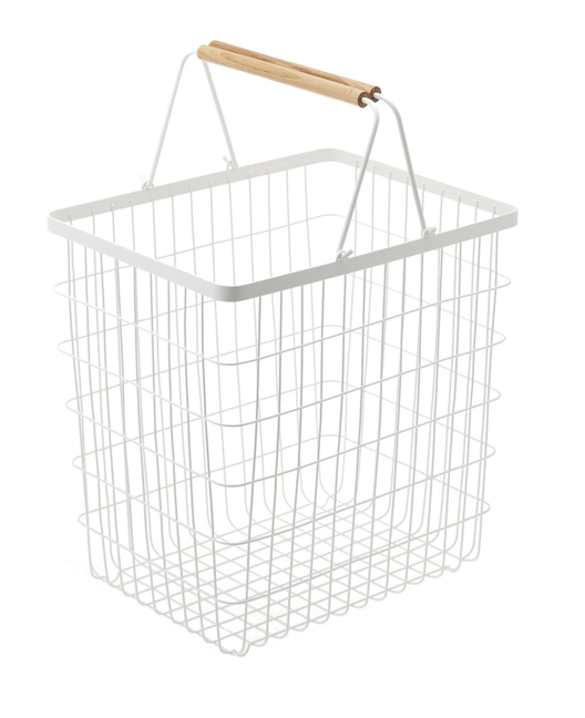 TOSCA LAUNDRY BASKET WHITE