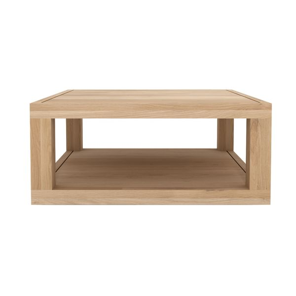 ETHNICRAFT OAK DUPLEX SQUARE COFFEE TABLE