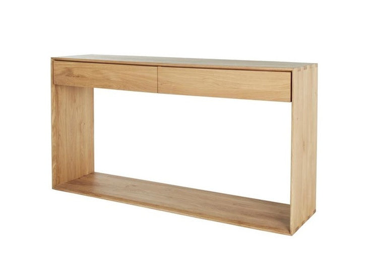 ETHNICRAFT OAK NORDIC CONSOLE SMALL - The Banyan Tree Furniture & Homewares