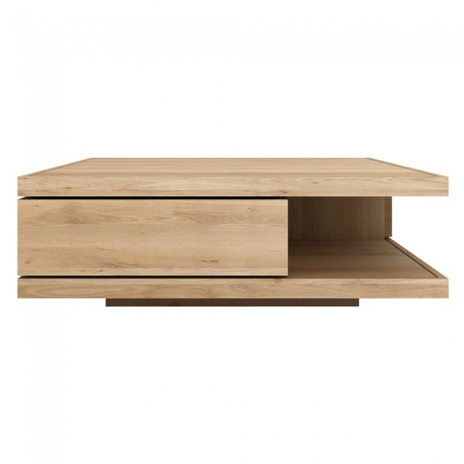 ETHNICRAFT OAK FLAT COFFEE TABLE