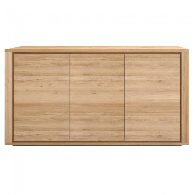 ETHNICRAFT OAK SHADOW 3 DOOR SIDEBOARD - The Banyan Tree Furniture & Homewares