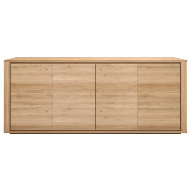 ETHNICRAFT OAK SHADOW 4 DOOR SIDEBOARD - The Banyan Tree Furniture & Homewares