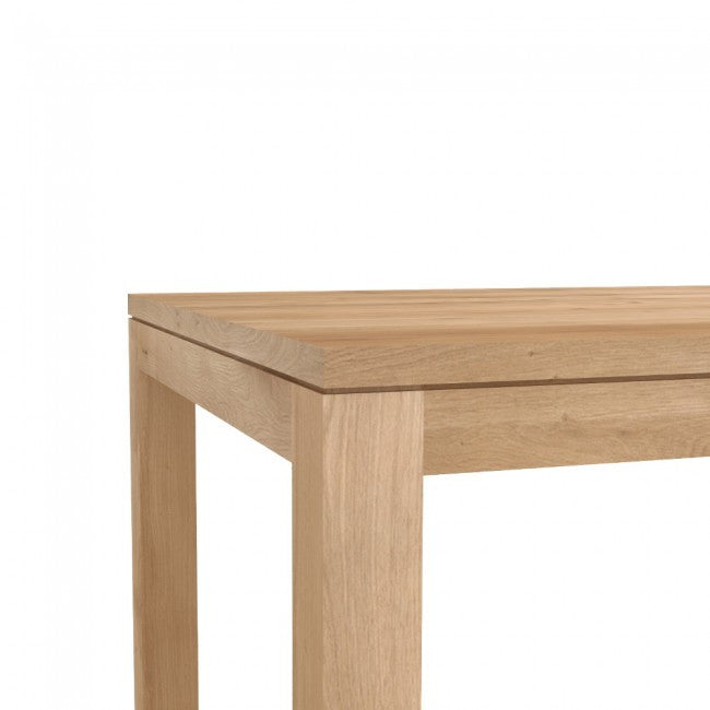 ETHNICRAFT OAK STRAIGHT DINING TABLE - The Banyan Tree Furniture & Homewares