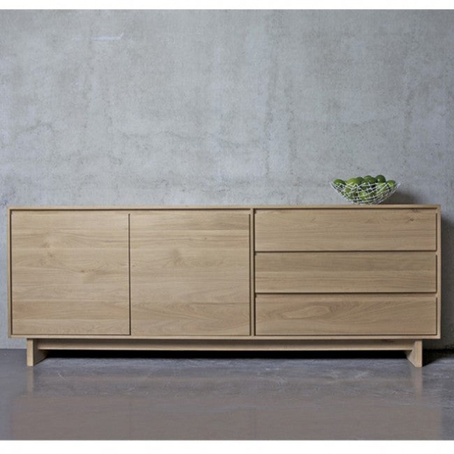 ETHNICRAFT OAK WAVE SIDEBOARD - The Banyan Tree Furniture & Homewares