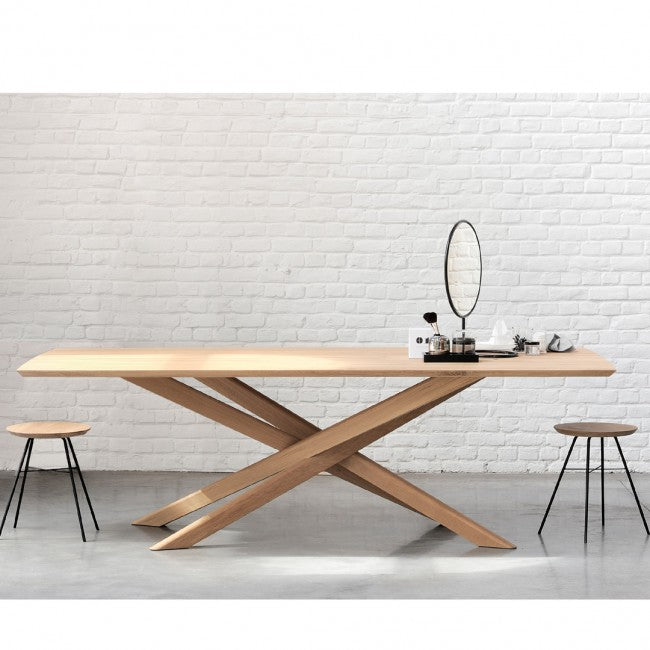 ETHNICRAFT OAK MIKADO DINING TABLE - The Banyan Tree Furniture & Homewares