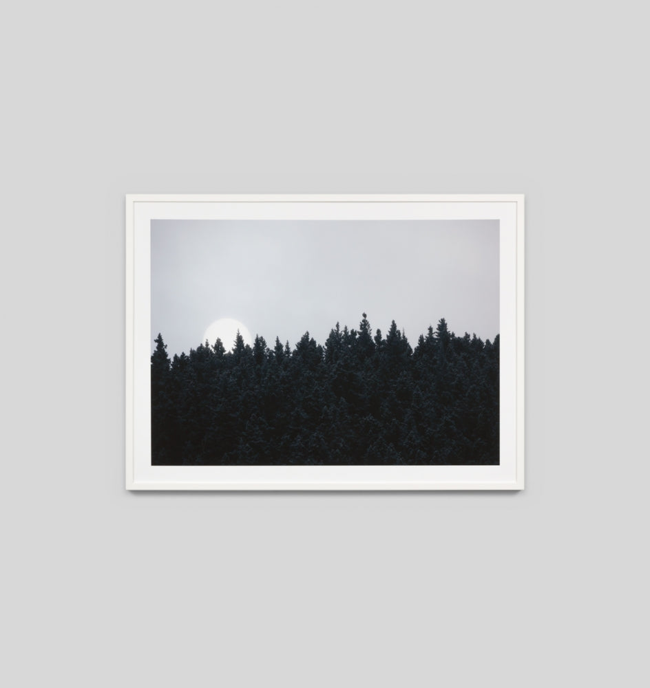 EVENING MOON · FRAMED PRINT