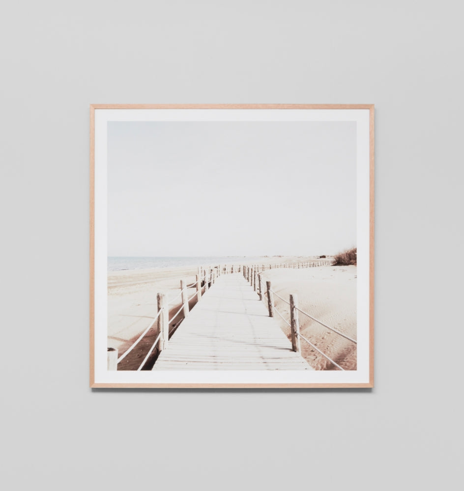FADED BOARDWALK · FRAMED PRINT