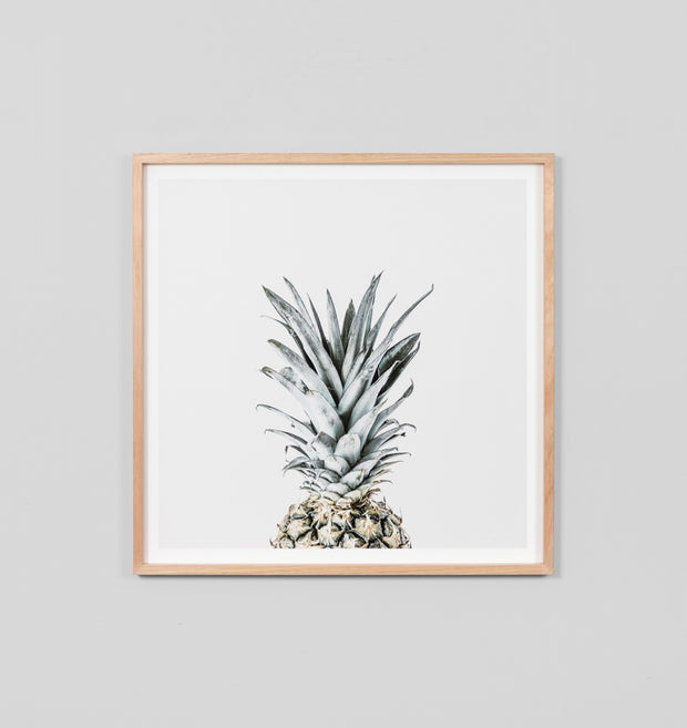 GREY PINEAPPLE · FRAMED PRINT