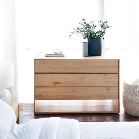 ETHNICRAFT OAK NORDIC CHEST OF DRAWERS - The Banyan Tree Furniture & Homewares