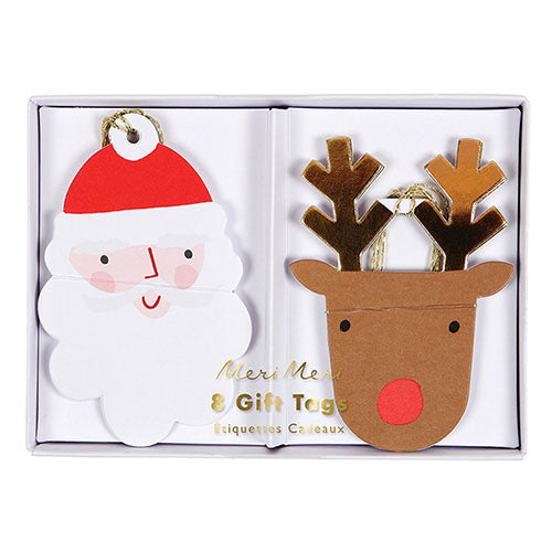 SANTA AND REINDEER GIFT TAGS - The Banyan Tree Furniture & Homewares