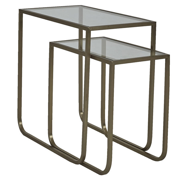 GLOBEWEST ELLE SLEIGH NESTED TABLES