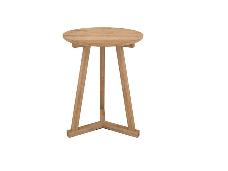 ETHNICRAFT OAK TRIPOD SIDE TABLE - The Banyan Tree Furniture & Homewares