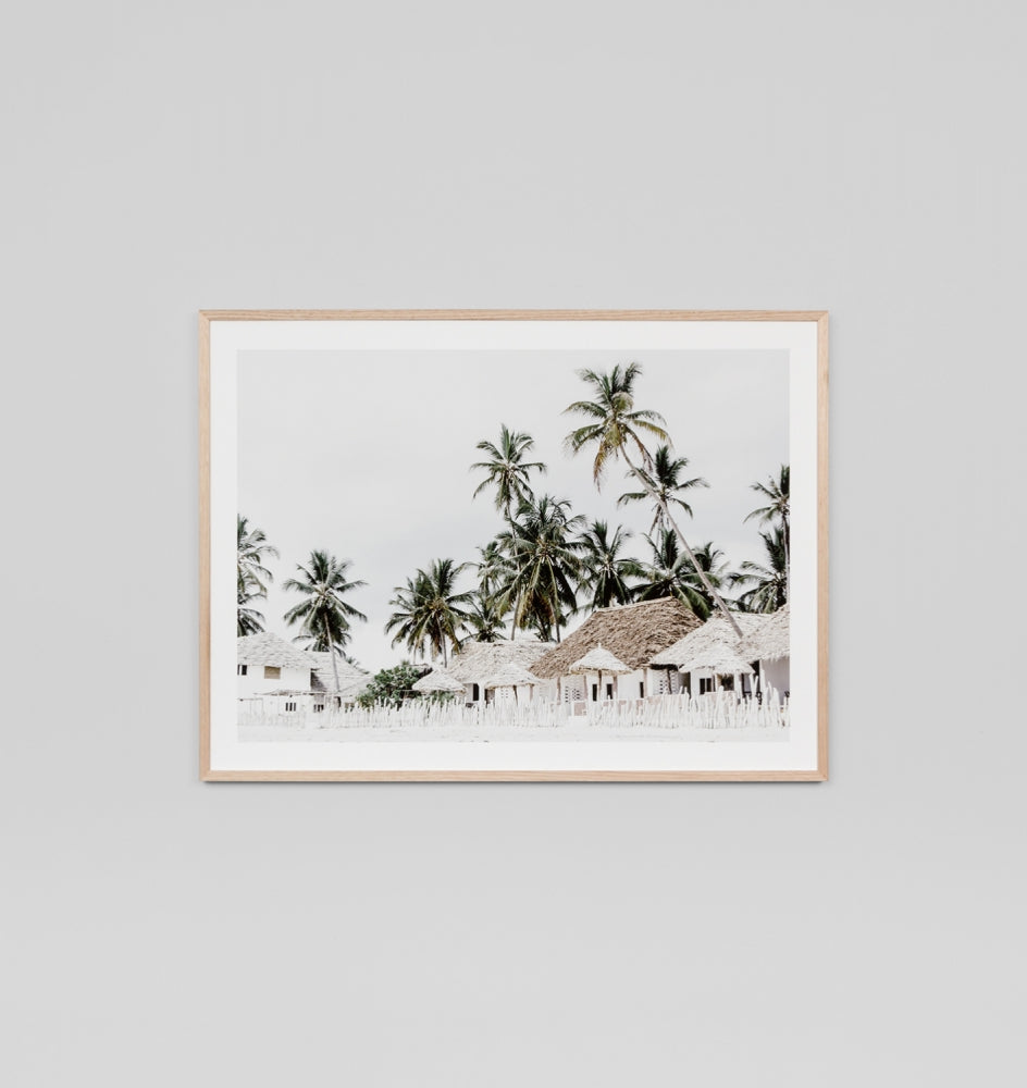 QUIET ISLAND · FRAMED PRINT