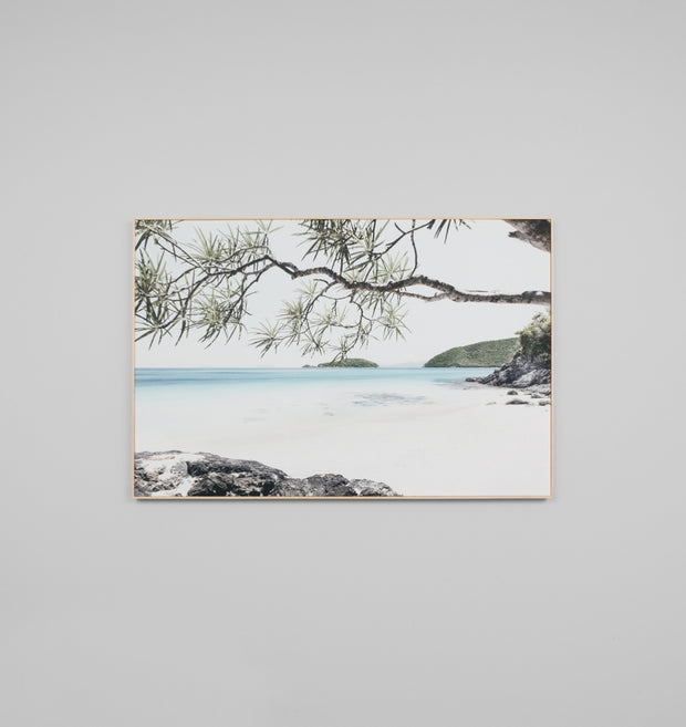SHADED PARADISE  · FRAMED CANVAS