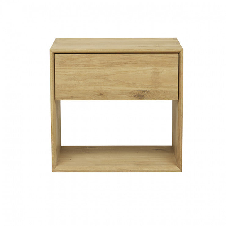 ETHNICRAFT OAK NORDIC BEDSIDE TABLE - The Banyan Tree Furniture & Homewares