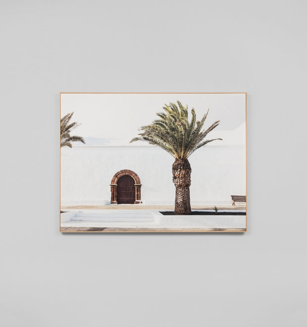 SPANISH DOOR · FRAMED CANVAS