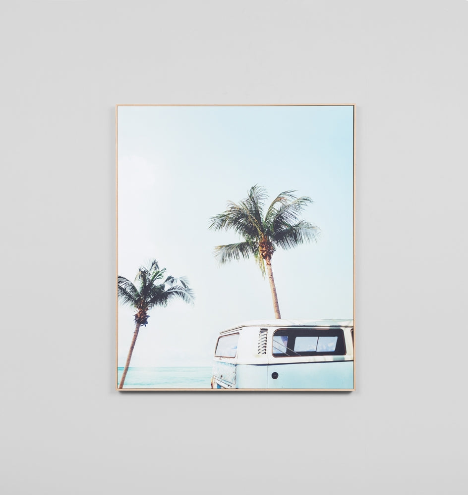 SURF TRIP COLOUR • FRAMED CANVAS