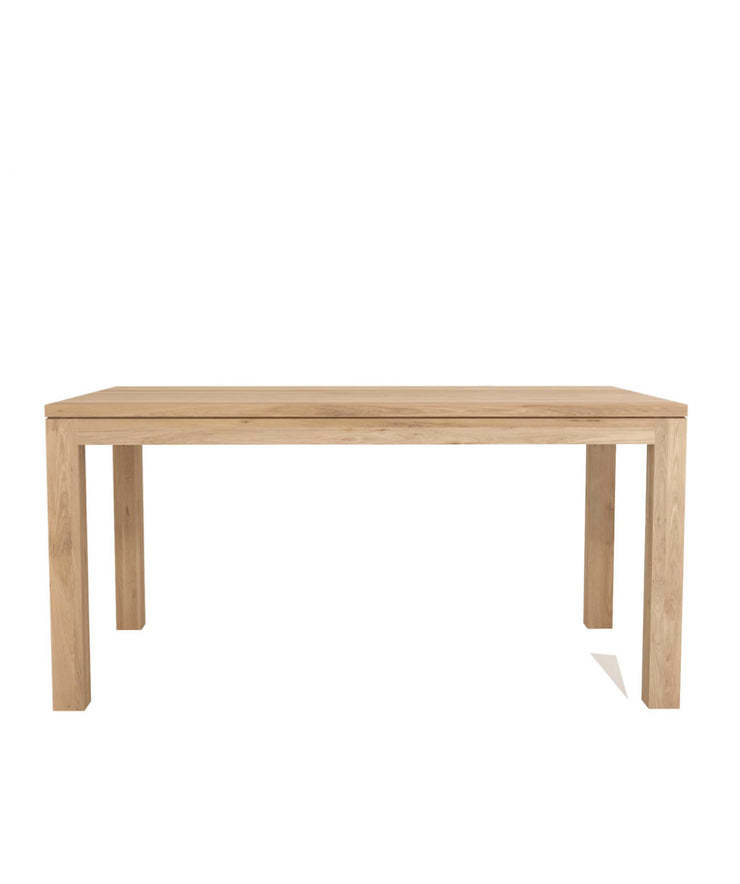 ETHNICRAFT OAK STRAIGHT DINING TABLE