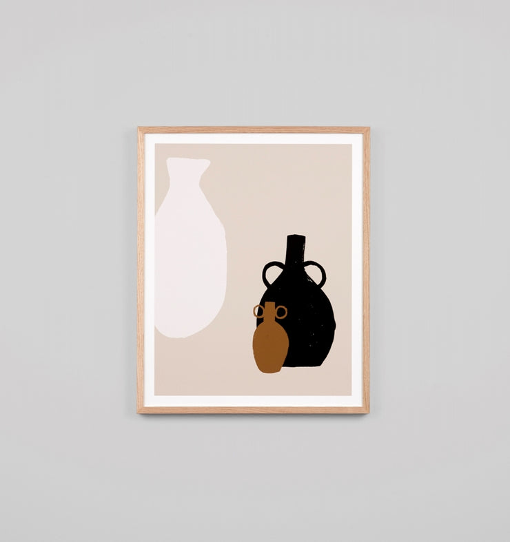 VASE TRIO NATURAL | FRAMED PRINT