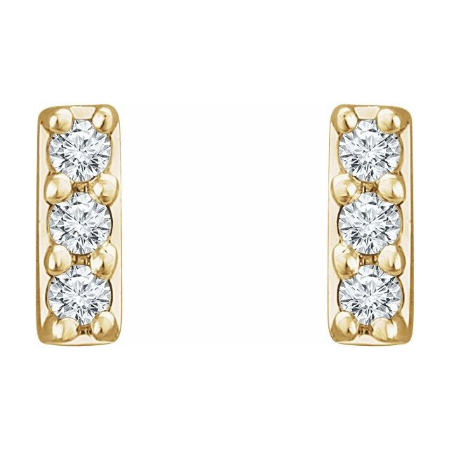 Mini Diamond Bar Studs Kimpi Jewelry