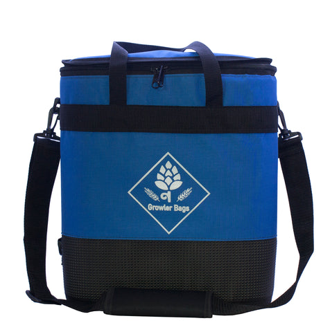 Growler Bag Double- Bolsa Térica Azul p/ 2 Growlers Grandes