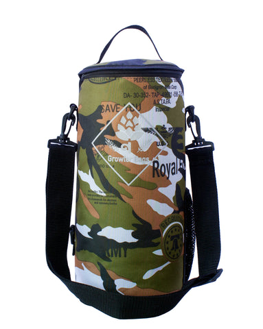 Growler Bag Single - Bolsa Térmica Camuflada p/ 1 Growler Cervejeiro G