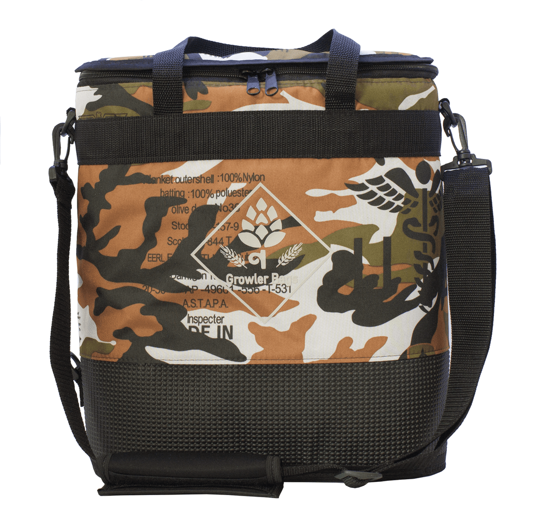 Growler Bag Double Camuflada Army - Bolsa Térmica para Growlers