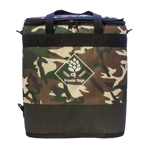 Growler Bag Double Camuflada Selva - Bolsa Térmica para Growlers