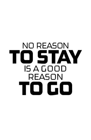 No reason to...