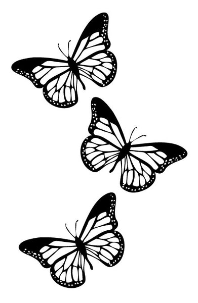 Butterflies, black