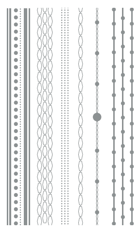 Chains with dots, Silver