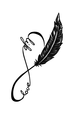 Life - love, feather
