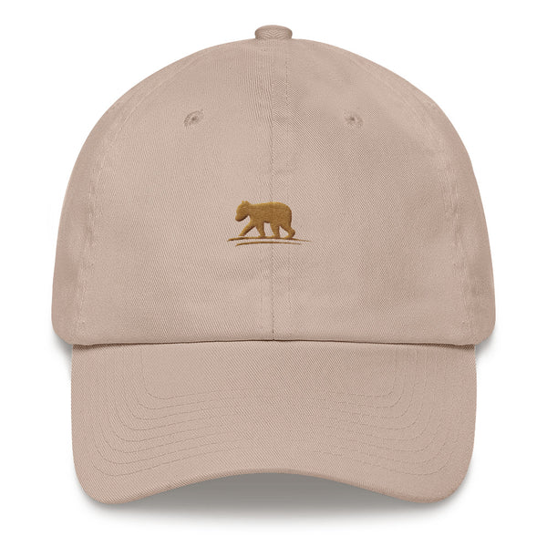 LIVE Logo Hat (Stone with Brown Logo)