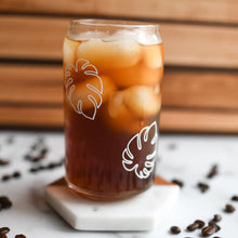 Load image into Gallery viewer, Two Monstera Iced Coffee & Juice Glassware Bundle