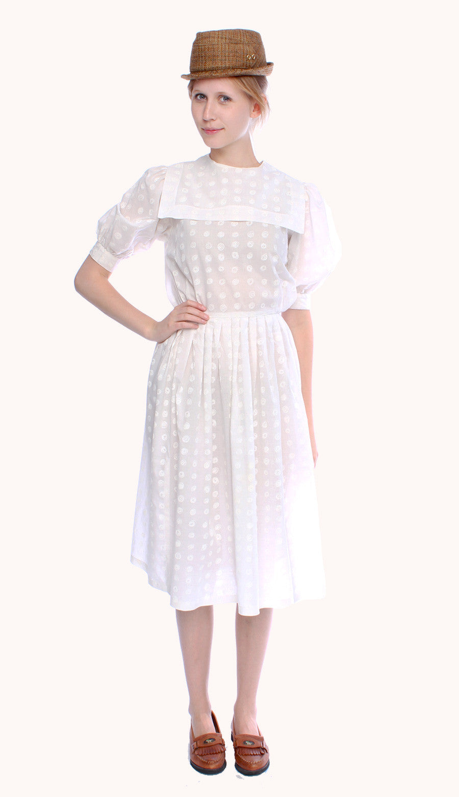 WHITE SAILOR DRESS