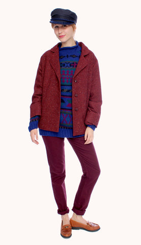 BERRY WOOL JACKET