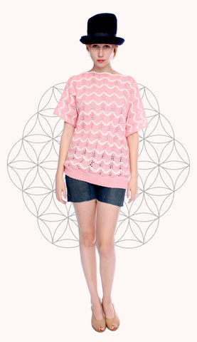 PINK WAVES PULLOVER