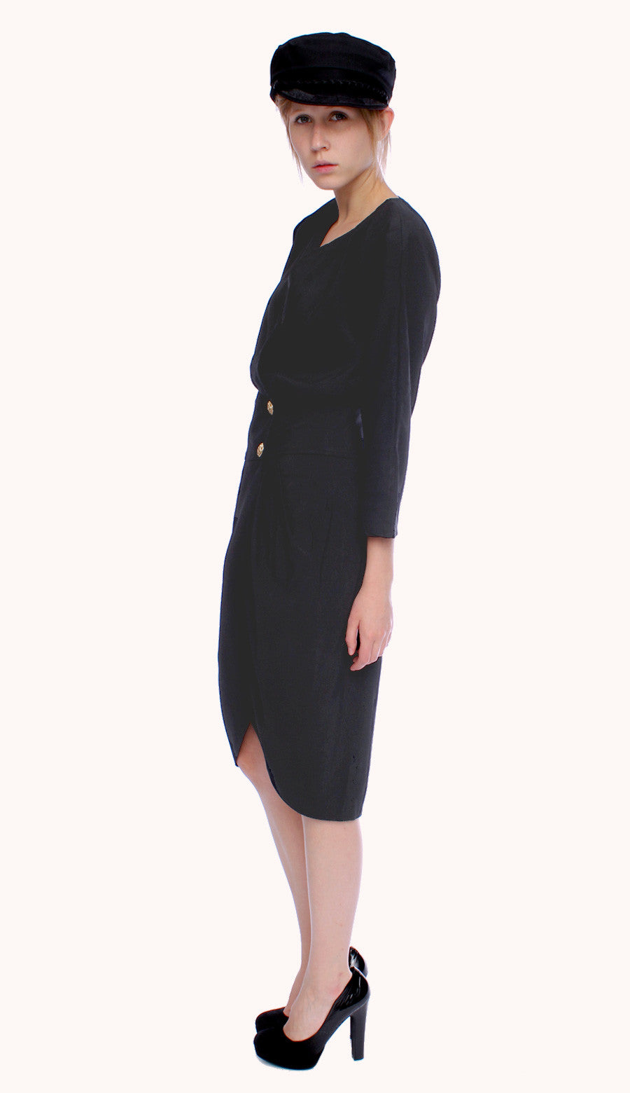 BLACK WALLIS DRESS